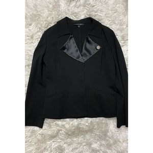 Lafayette 148 New York Black Blazer Jacket Coat